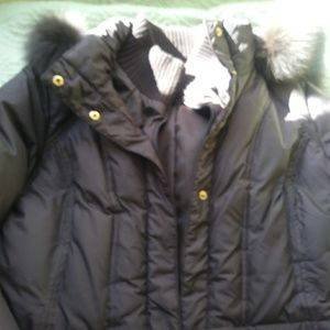 Ellen Tracy hooded down jacket